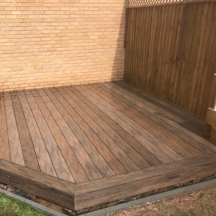 Weathered effect decking
