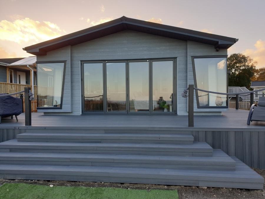 Garden deck in Suffolk