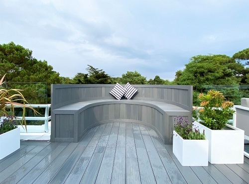 composite decking seating area