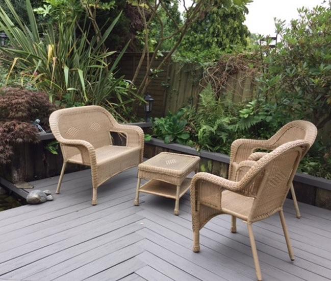 Small garden deck