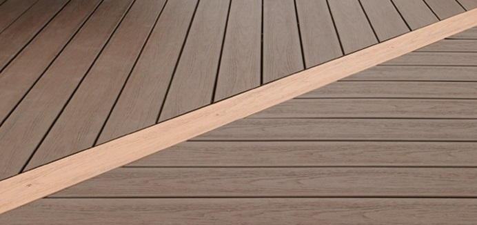 how is composite decking made