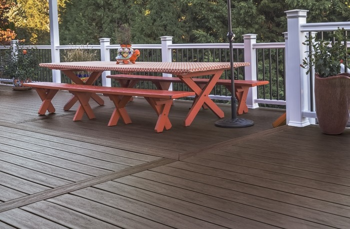 Tropical hardwood look decking