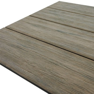 composite decking close up